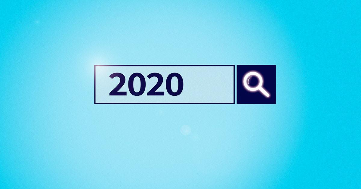 שורת חיפוש בגוגל עם שנת 2020 במילת החיפוש
