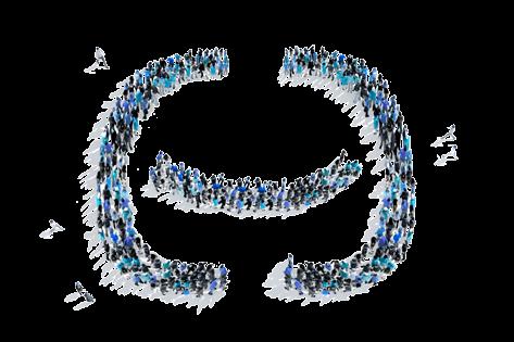 המון אנשים מייצרים יחד את הלוגו של איזיקאונט