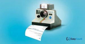 תיעוד הוצאות: מצלמה שמוציאה חשבונית מס