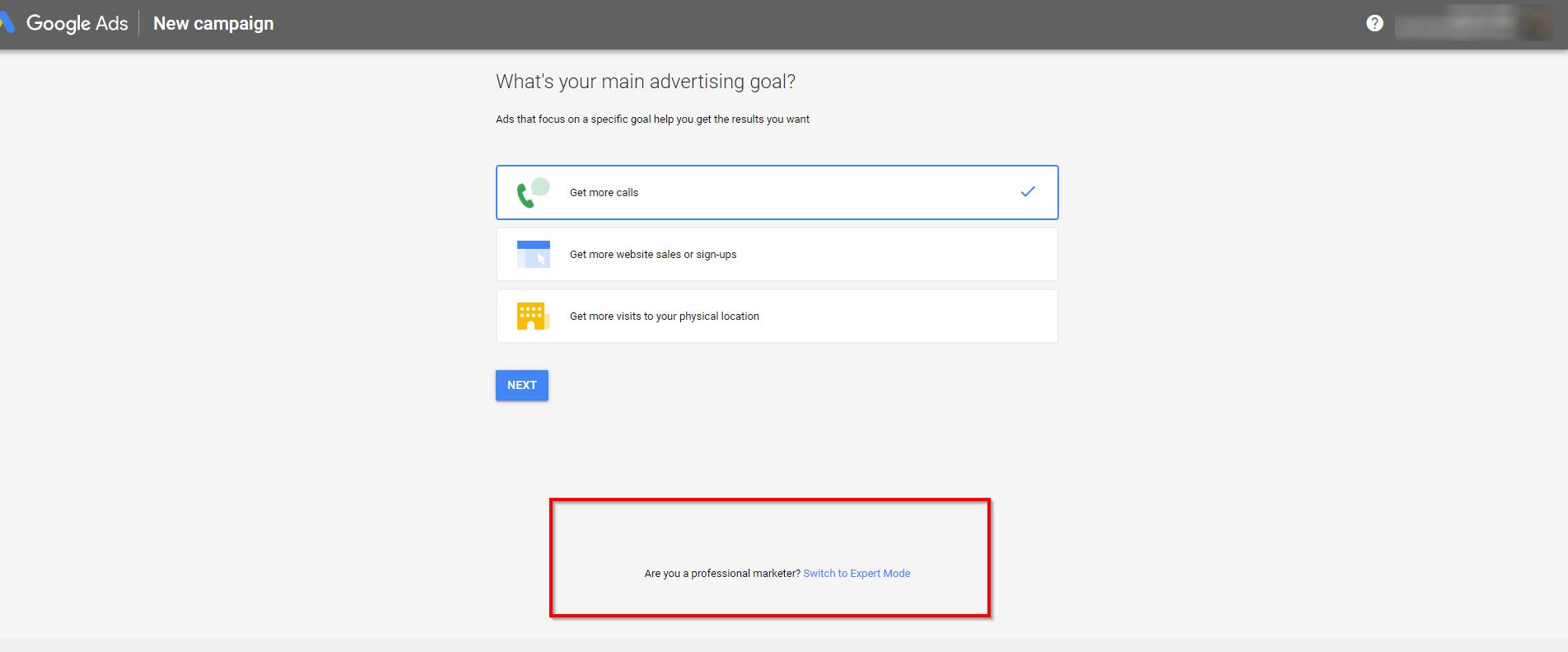 מטרת הפרסום בקמפיין גוגל