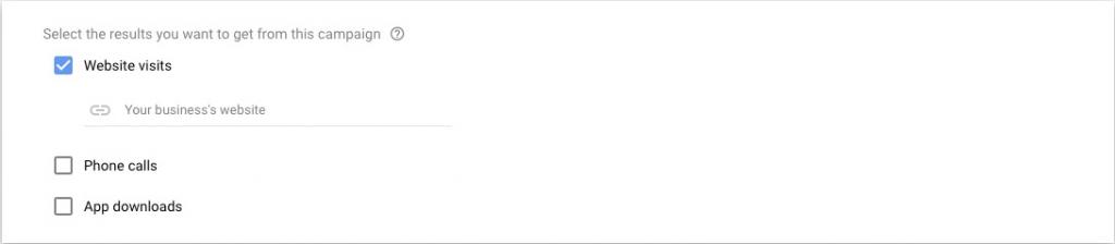 בחירת תוצאות מקמפיין בגוגל